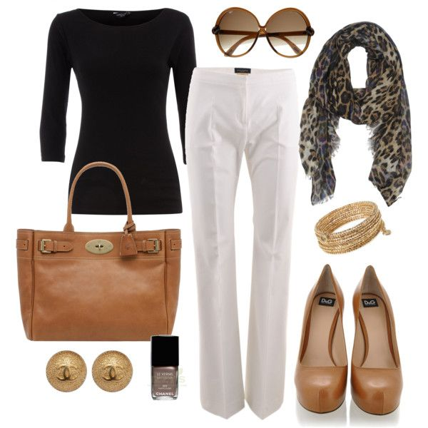 Work outfit ideas!: Shoes, Colors Combos, Style, Black And White, Black White, White Pants, Leopards Prints, Animal Prints, Work Outfits