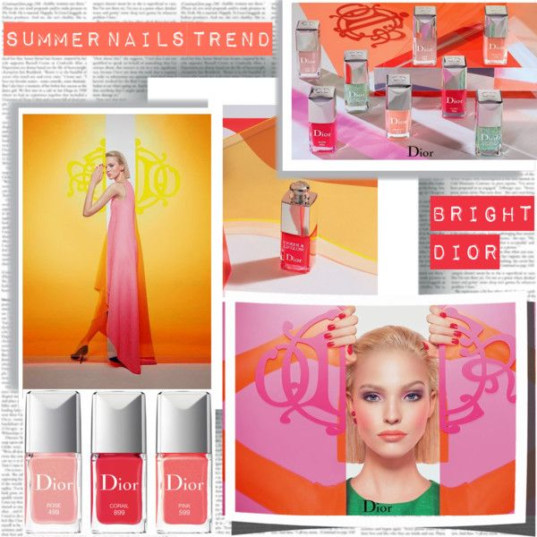 Summer Nails Trend by stylepersonal on Polyvore featuring polyvore, beauty, nails, Summer and trendreport