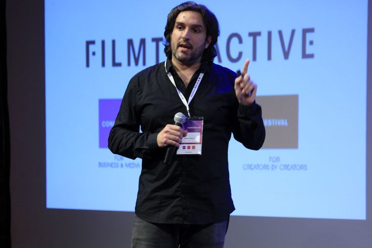 """Komplex, 28"" form Italy pitching on the Filmteractive Market stage. The project got HONOURABLE MENTION form Filmteractive Market jury!"