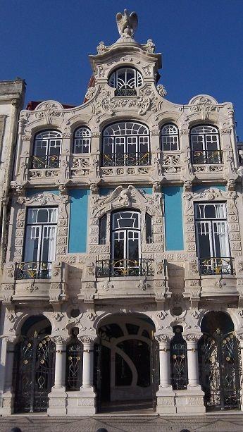 Museu e casa de chá em Art Nouveu, Aveiro, Portugal