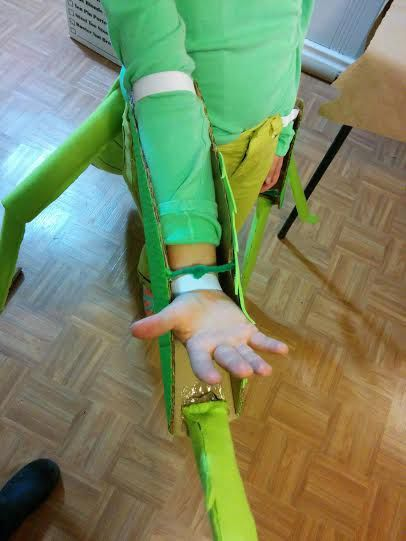 "The phrase ""cute as a bug"" finally makes sense! Learn how Zoe and her mom made this amazing praying mantis costume."
