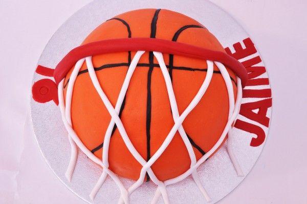 #Tarta balón de #baloncesto - Basketball cake