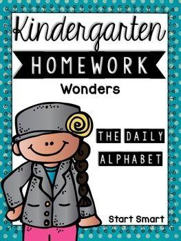 Kindergarten Homework Wonders Edition: Start Smart