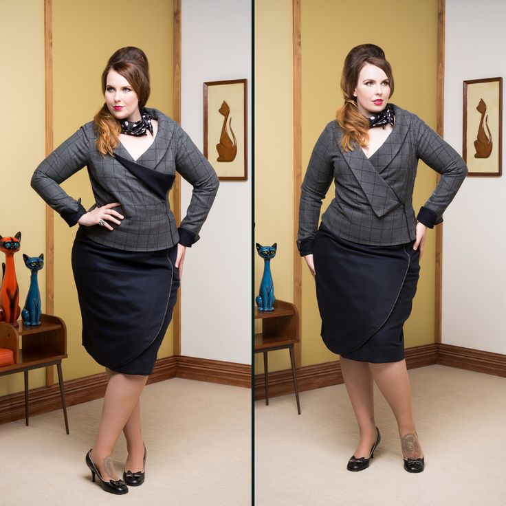 Boardroom Blazer & CEO Wrap Skirt