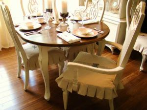 Skirted Kitchen Chair Covers