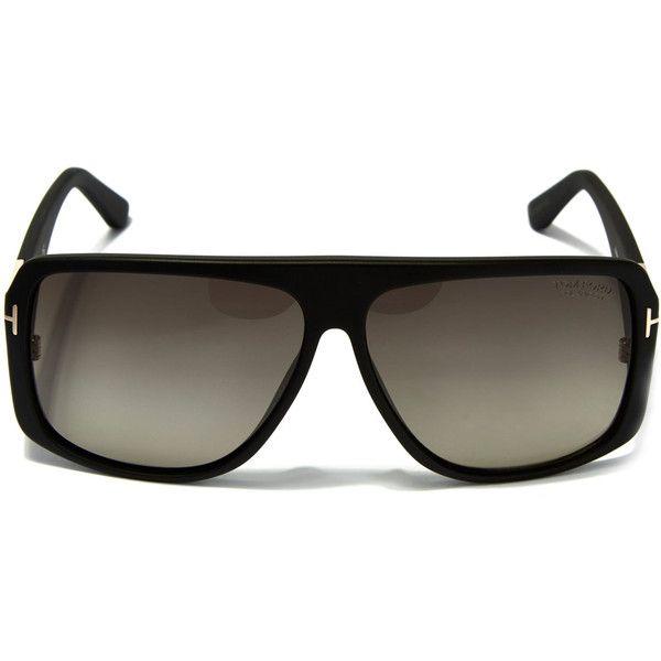 Tom Ford Black Square Aviator Sunglasses (39860 RSD) ❤ liked on Polyvore featuring men's fashion, men's accessories, men's eyewear, men's sunglasses, mens square aviator sunglasses, tom ford mens sunglasses e mens square sunglasses