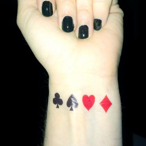 Hey, I found this really awesome Etsy listing at https://www.etsy.com/listing/207361381/playing-card-tattoo-poker-queen-of