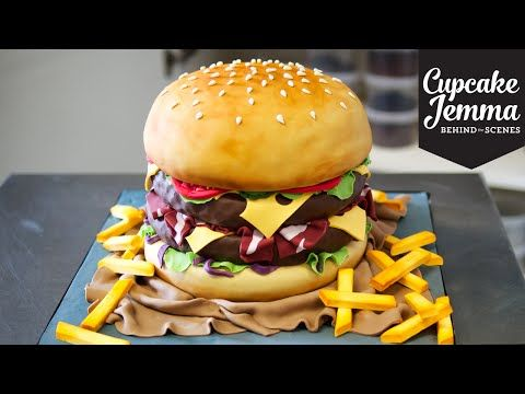 The Making of a Burger Cake! | Cupcake Jemma - YouTube