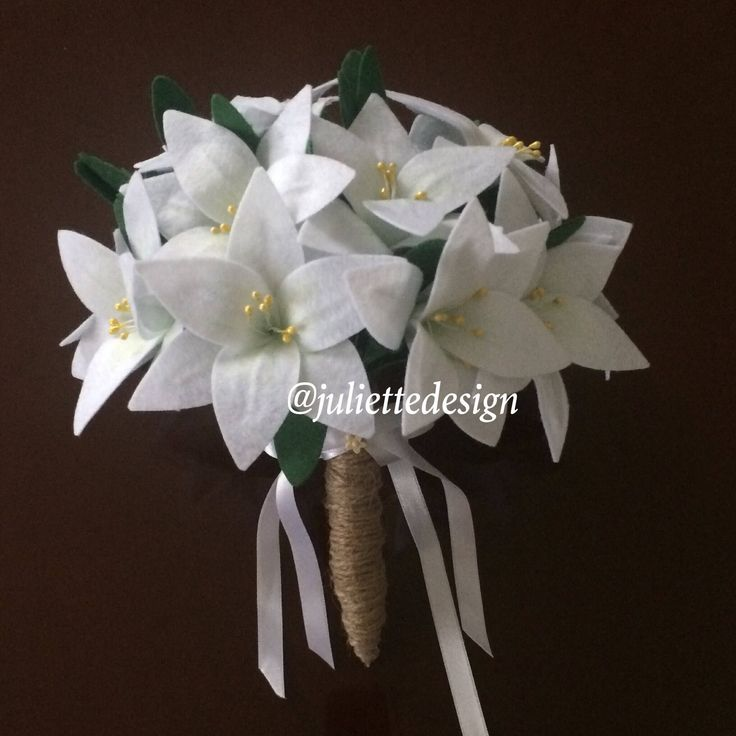Lillies Wedding Bouquet, Bride Bouquet, Lilies, Bride Bouquet, Wedding Bouquet, Bridesmaid by juliettesdesigntr on Etsy https://www.etsy.com/listing/583297086/lillies-wedding-bouquet-bride-bouquet