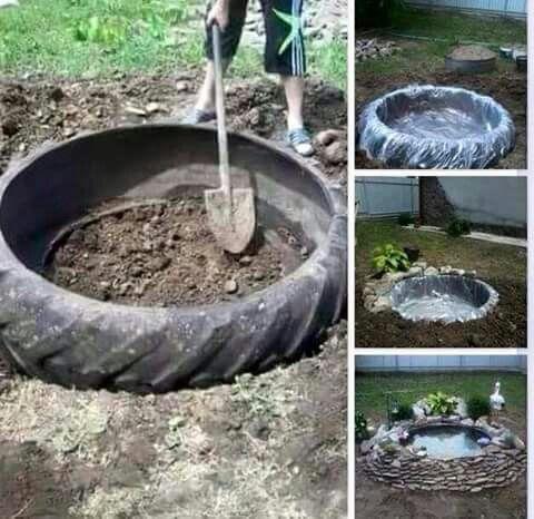 Mini estanque reciclado todo jardines plantar podar for Mini estanques caseros