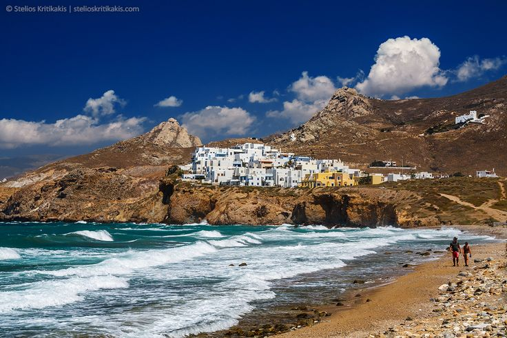 naxos, aegian, greece, cycaldes group, blue, sea, sky, clouds, swimming, white, architecture, waves, people, landscape, yellow, stone, island, its_me