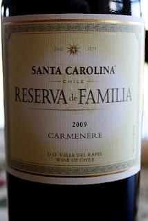 Santa Carolina Reserva de Familia Carménère 2009 - Tour of Chile Wine #6. $14, read more...