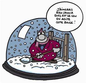 Le chat - Geluck - Boule à neige