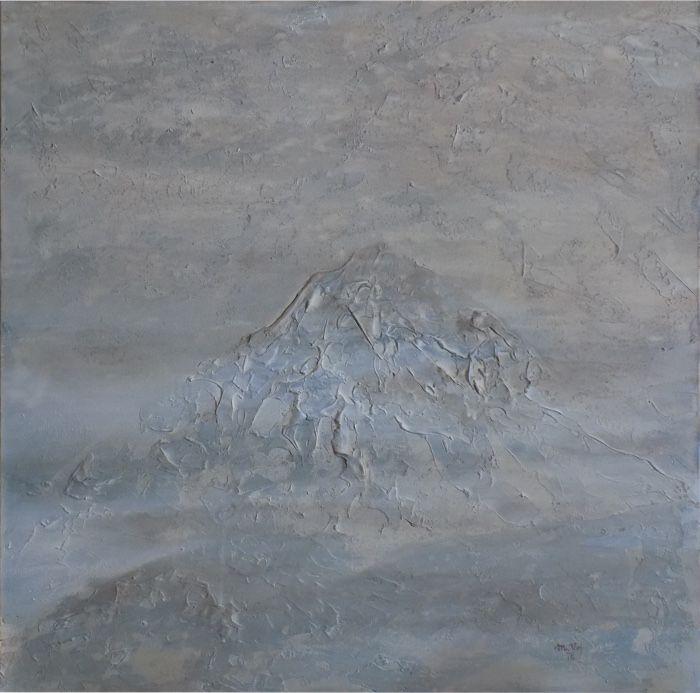 Vzpomínka na Kailáš (Remembering Kailas) Acrylic on canvas, 80x80cm, © Mirek Vojáček