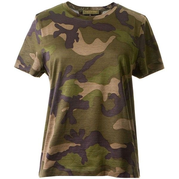 Valentino Camouflage Print T Shirt 462 Liked On