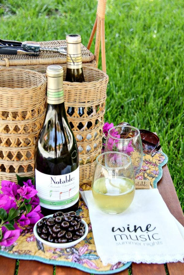 Msg 4 21+ | Attending outdoor concerts this summer? Don't forget to take Notable Wines and make these fun napkins too. #Chardonnation #SpringWine AD