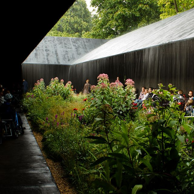 Peter Zumthor Serpentine Pavilion in the rain by small_moon, via Flickr