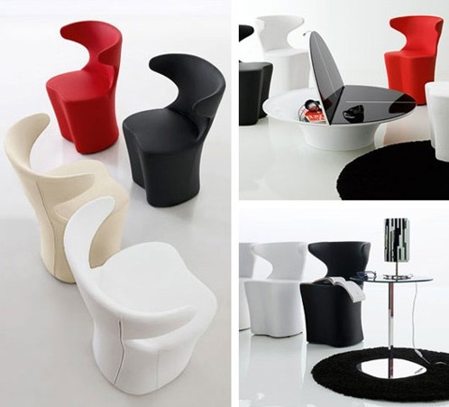 I would love to use the black and white versions of these chairs in my living room