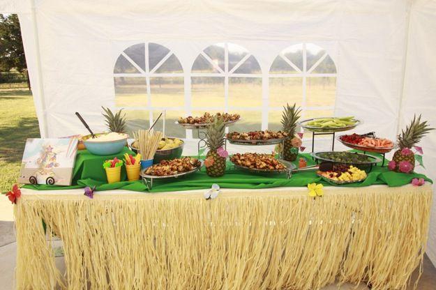 Hawaiian themed lunch buffet