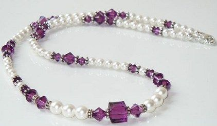 Did you see the new necklace design idea posted on the Idea Page this weekend? It features Swarovski pearls and amethyst crystal beads. You can make this in your favorite colors. All the details and materials list  are shown on our Idea Page: http://www.bestbuybeads.com/ideapage.asp