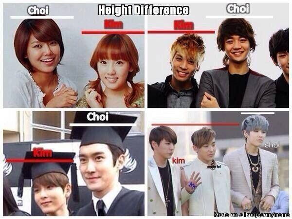 Yes this is so true Kim's are very small and chois r very tall must be all in the genes XD