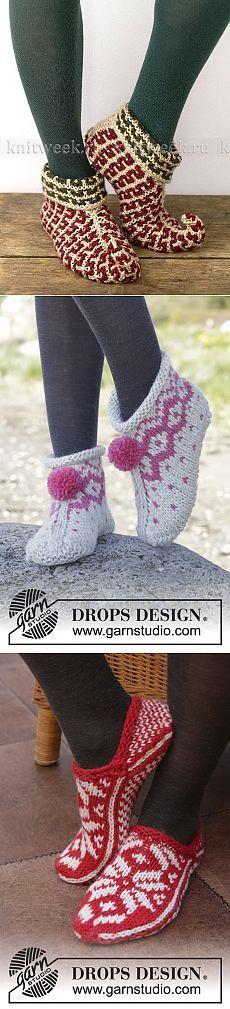 вязаный рождественский носок схема