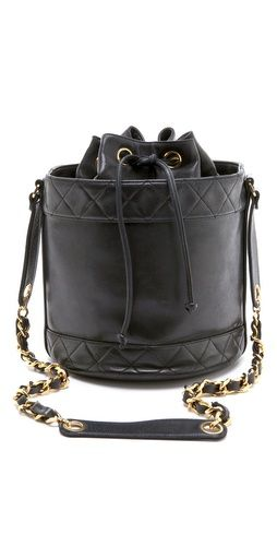 Classic Chanel Black Bucket Bag