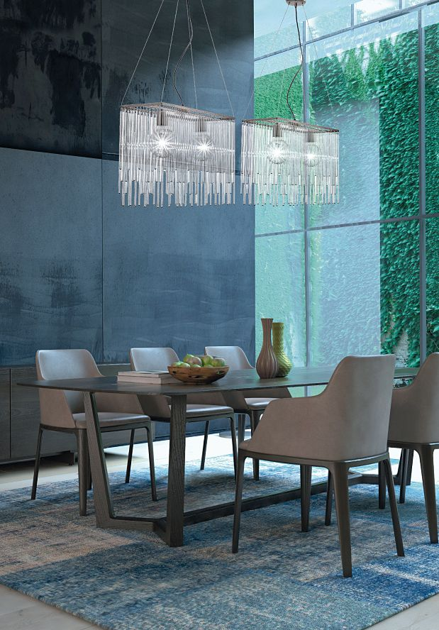 BIEFFE Lighting - Lighting in brunito finished structure and transparent pirex straws. #light #furniture #design #glass #murano #madeinitaly #architecture #wynwood #miami #italy #white www.bieffedesign.com