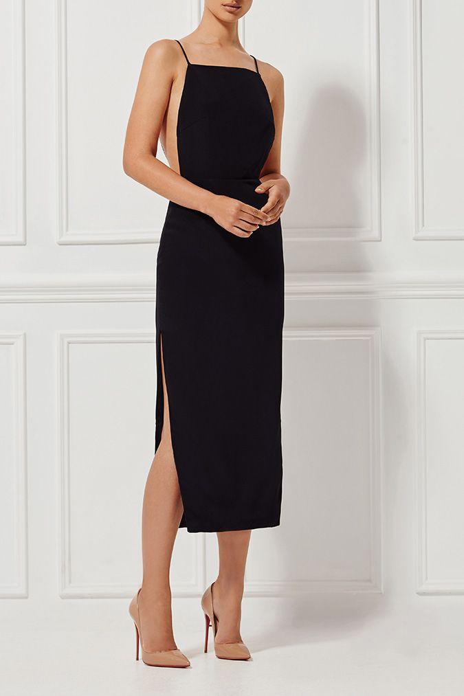 ALESSANDRA SILK DRESS EBONY - Shop