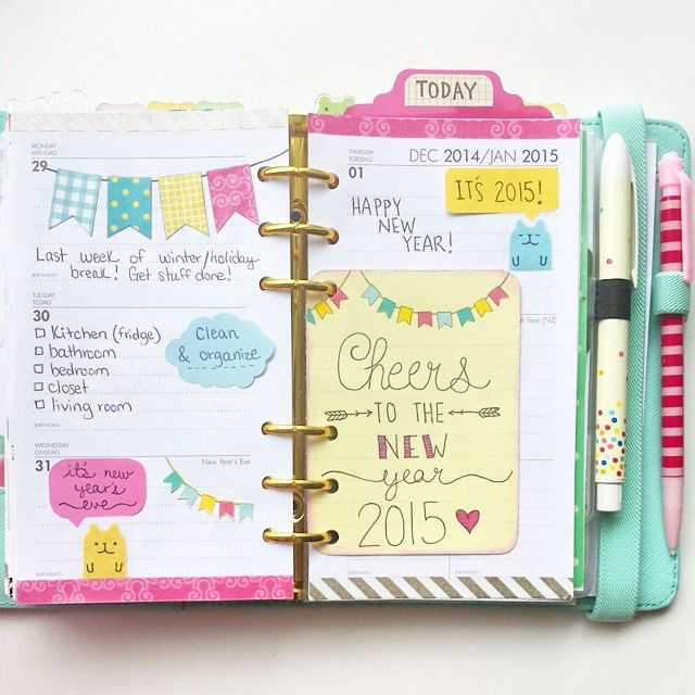 Ready for this week! Happy New Year everyone! #kikkik #kikkikmint #planner:
