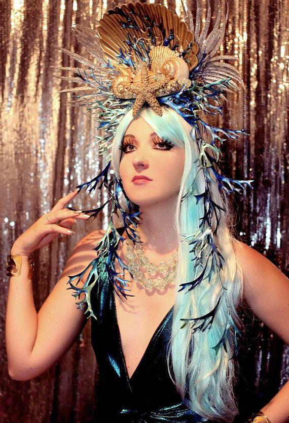Mermaid Wig/ Siren Wig/ Sea Maiden Wig/ Ariel Wig/ Little Mermaid/ Blue Wig/ Halloween Wig/ Masquerade Wig/ Cosplay Wig. This is my friend's Roxy's store on etsy!!