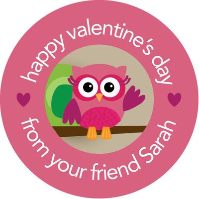 Owl Be Your Friend Valentine Seals