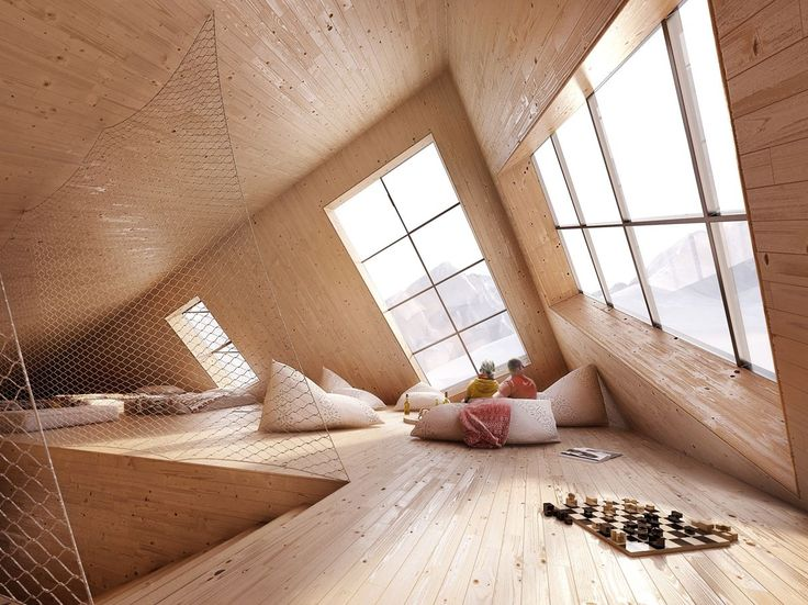 """archilovers: """"Like a block left behind by the retreating glacier, ATELIER 8000 - projekční a architektonický atelier designs a sustainable passive mountain hut in the High Tatras. More pictures:..."""