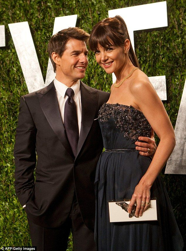 Katie Holmes said in a statement that she regrets upsetting Leah Remini when they were both in the church of Scientology. Holmes pictured above with ex-husband Tom Cruise
