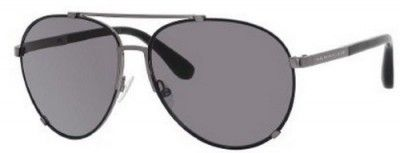 Óculos Marc by Marc Jacobs MMJ301S Aviator Sunglasses,Black Ruthen Frame/Gray Lens,One Size #Óculos #Marc Jacobs