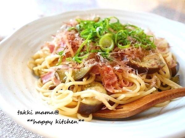 茄子とベーコンのやっぱり和風パスタ by たっきーママ | レシピサイト ...