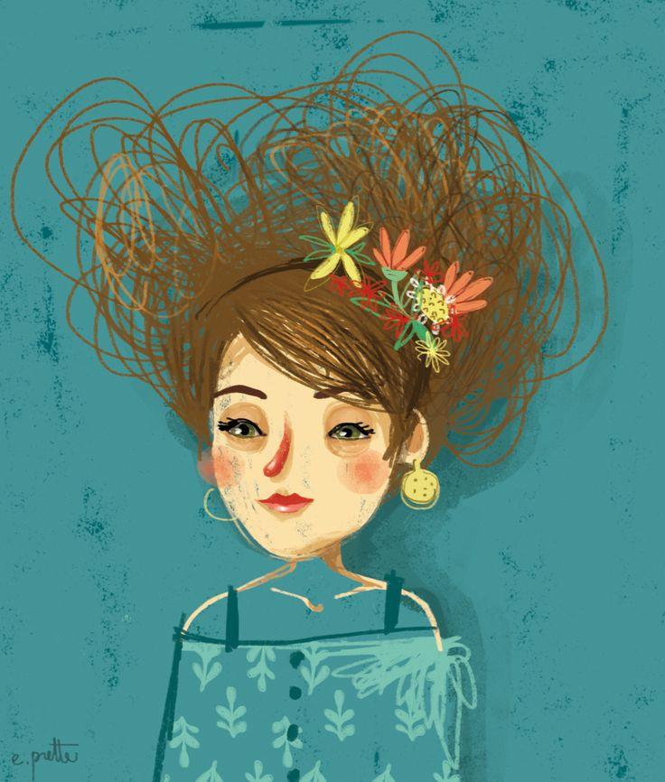 Red nose me. -by e.prette Illustration-portrait