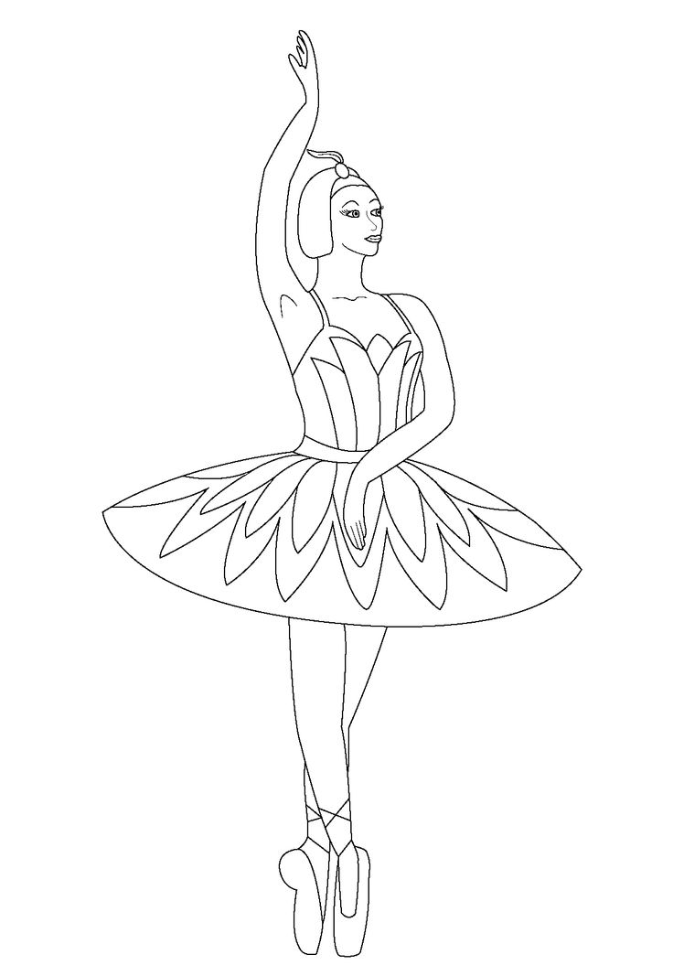 ballet coloring pages for kids - photo#14
