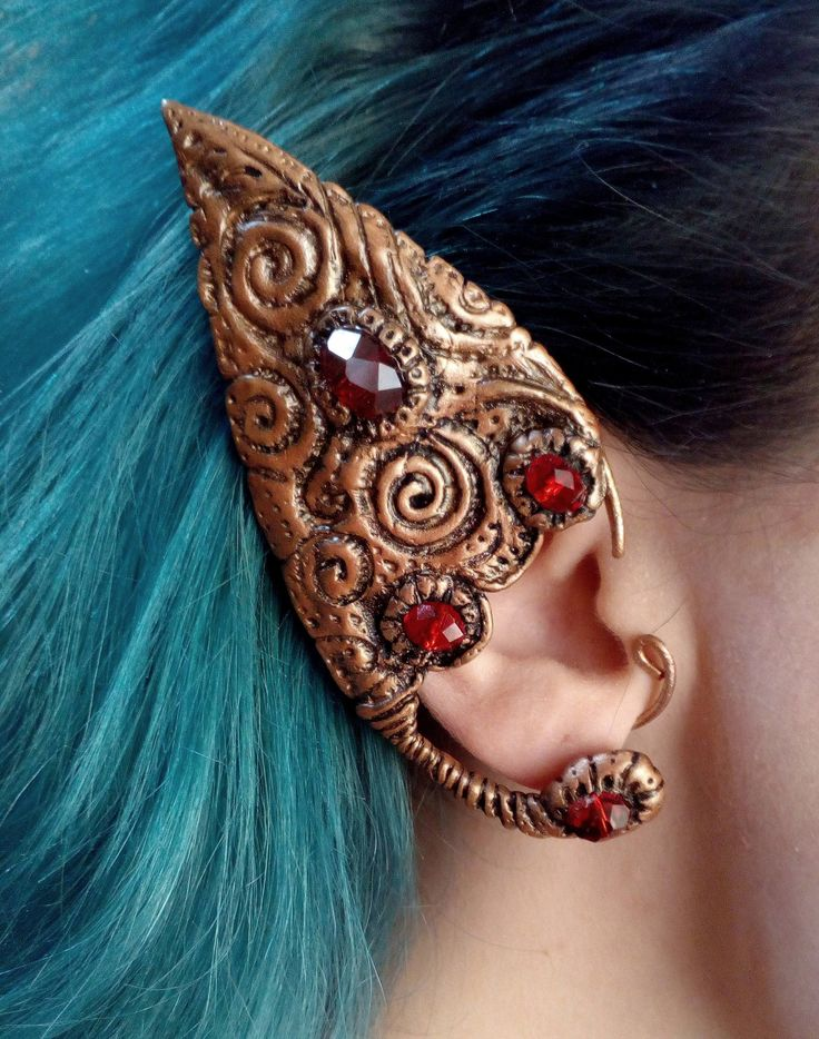 Excited to share the latest addition to my #etsy shop: Elf ear cuff / Polymer clay ear cuff / Elven ear / Faerie jewerly / Copper wire ear cuff /Pagan / Vintage #jewelry #earrings #copper #elfearcuff http://etsy.me/2FdOLAR