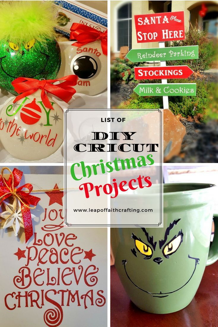 Delightful Cricut Christmas Crafts Part - 14: DIY Christmas Decor And Gifts