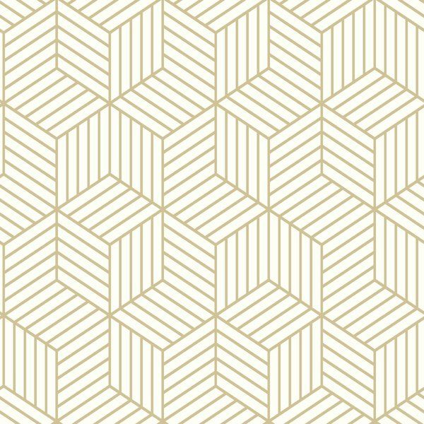 Add Bold Geometrics To Your Space With This Rumsey Stripped Hexagon 16 5 39 L X 20 5 Quot W G Peelable Wallpaper Peel And Stick Wallpaper Embossed Wallpaper