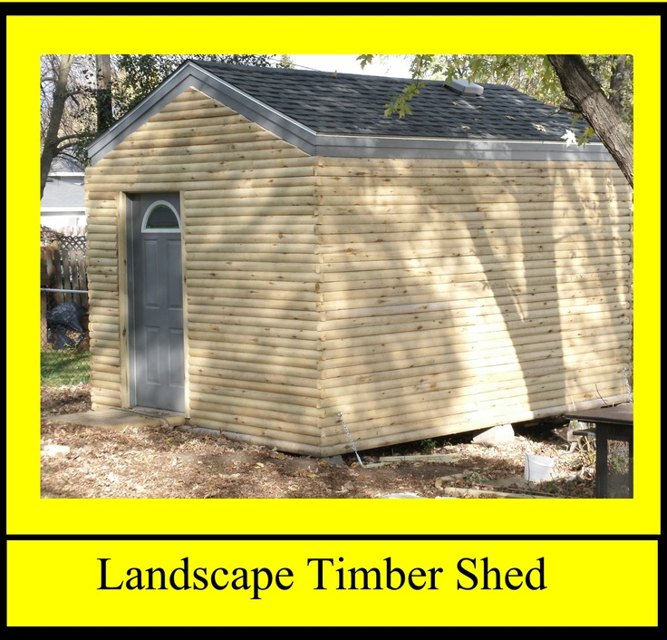 Landscape Timber Shed Landscape Timbers Wow Pinterest