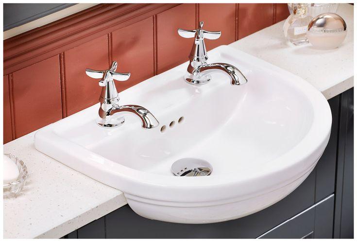 Traditionally-styled salino bath taps capture the period look #Roseberry #brassware #bathroomfurniture #myutopia