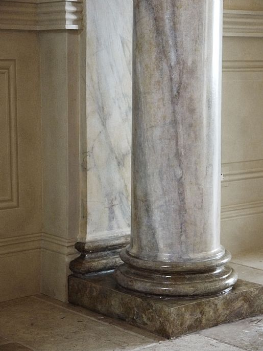 Marble Column Wall : Best painted columns images on pinterest