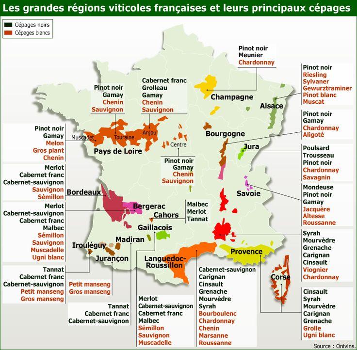 carte de france vin
