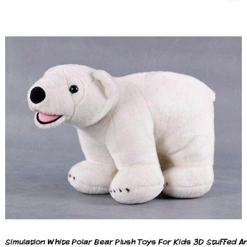 3b53f239 Simulation white polar bear plush toys for kids 3D stuffed animals ...