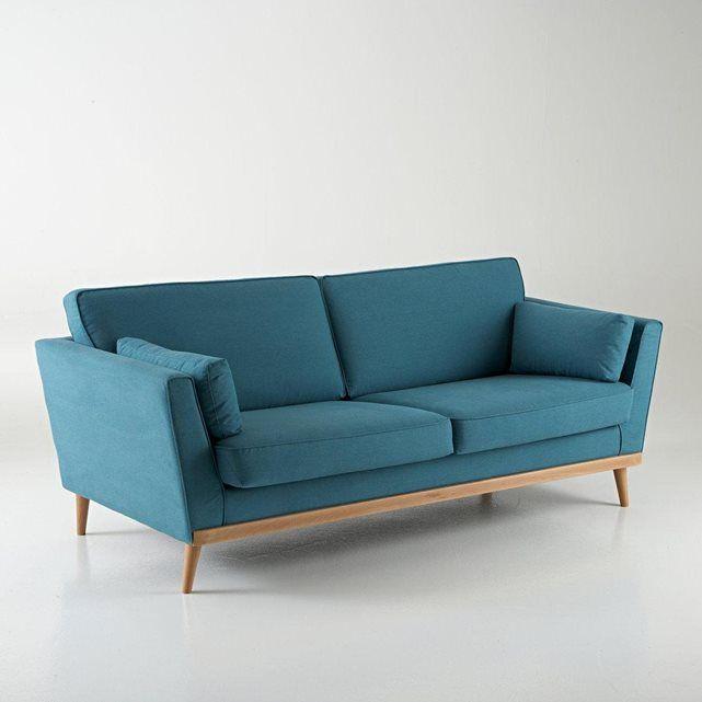 Canapé vintage 3 et 4 places, Tasie La Redoute Interieurs (Bleu canard)