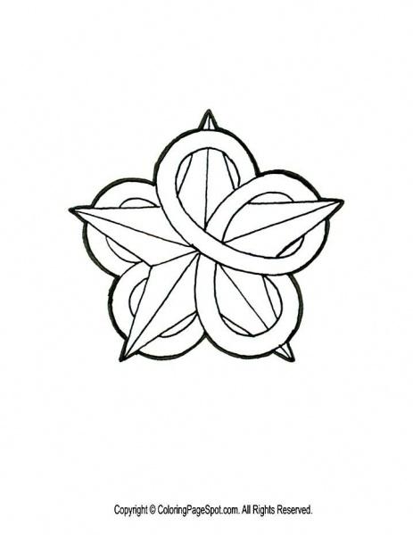 Celtic knot star