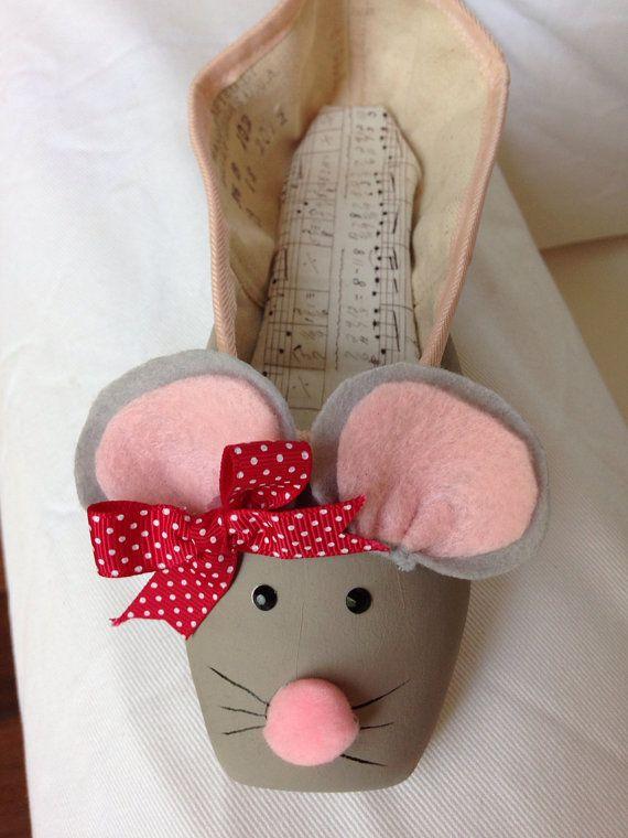 The Nutcracker Suite: Mice Decorative Pointe Shoe ♥ www.thewonderfulworldofdance.com #ballet #dance