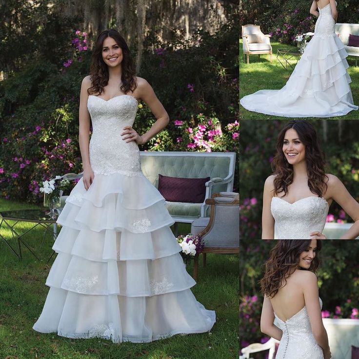 Holiday appointments are almost filled make yours today! http://ift.tt/2yXeLch  Delicate sequined lace drop waist gown with tiered skirt is perfect for a Spring or Summer wedding!  Size 12 Color: Almond  #bridal #weddingdress #thealtarbridalcentennial #coloradowedding #coloradobride #thealtarbridal